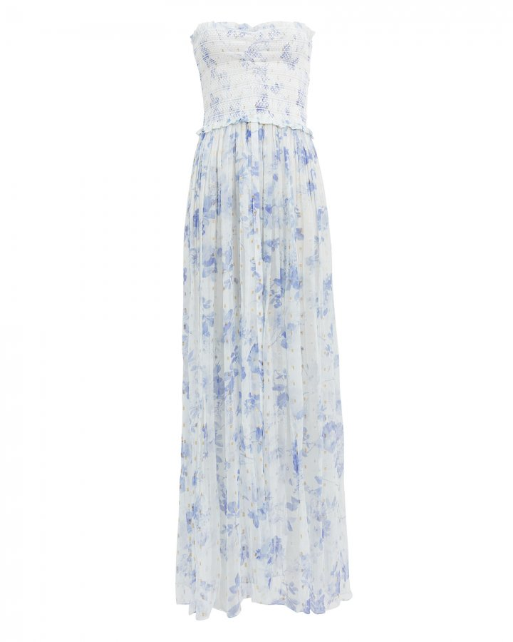 Iris Blue Floral Cover-Up Dress