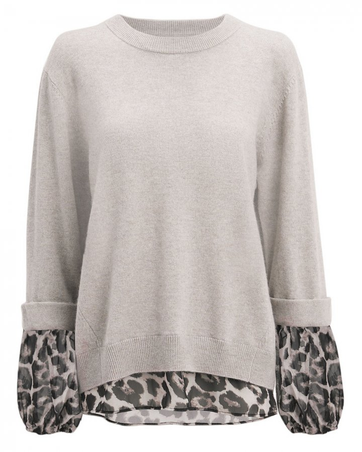 Leopard Layered Sweater