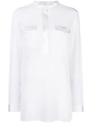 Salvatore Ferragamo Mandarin Collar Shirt - Farfetch