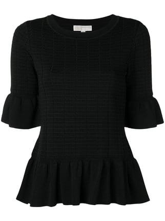 Michael Michael Kors Textured Ruffle Trim Top - Farfetch