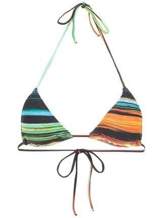 Lygia & Nanny Stripe Patterned Bikini Top - Farfetch