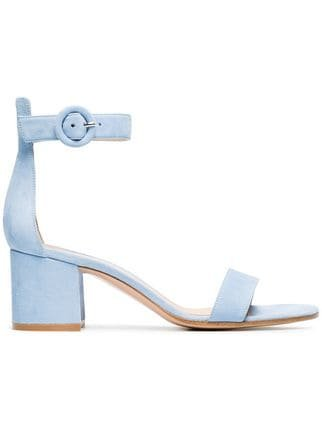 Gianvito Rossi Blue Portofino 60 Suede Sandals - Farfetch