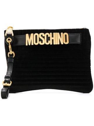 Moschino Logo Belt Clutch - Farfetch