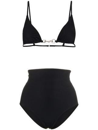 Rudi Gernreich Chain Buckle High Waisted Bikini - Farfetch