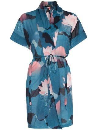 Double Rainbouu Vintage Floral Print Cotton Beach Kimono - Farfetch