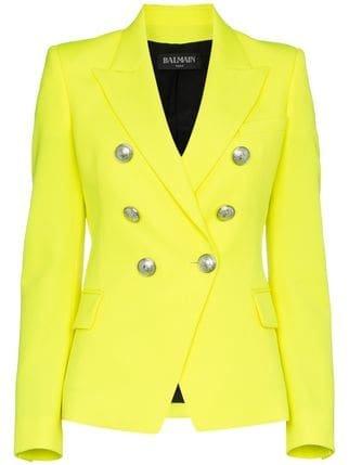 Balmain Classic Slim-fit Wool Blazer - Farfetch