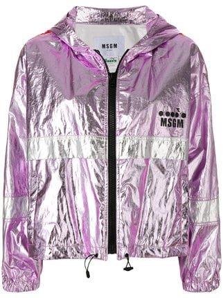 MSGM MSGM X Diadora Metallic Sports Jacket - Farfetch