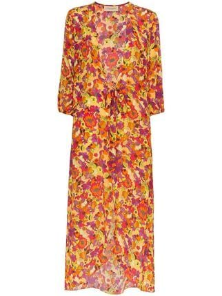 Adriana Degreas Flower And Fruit Printed Belted Robe - Farfetch