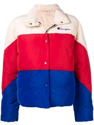 Champion Colour Block Puffer Jacket  - Farfetch