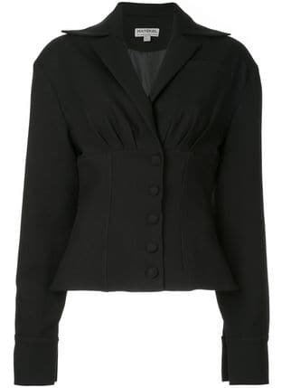 Matériel Pleated Fitted Blazer - Farfetch