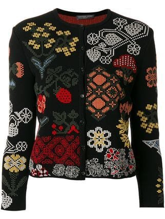 Alexander McQueen Floral Patch Cardigan  - Farfetch