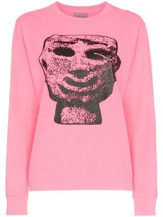 Ashley Williams Stone Head Graphic Cotton T-shirt - Farfetch