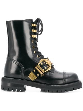 Versace Lace-up Boots - Farfetch