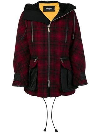 Dsquared2 Hooded Oversized Parka Coat - Farfetch