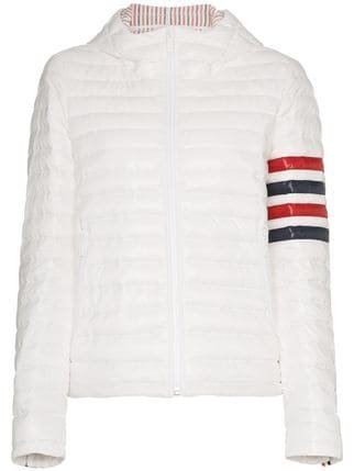 Thom Browne Hooded Quilted Jacket - Farfetch
