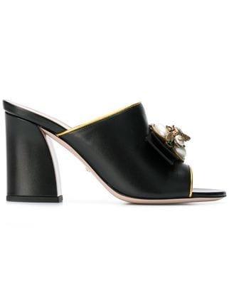Gucci Slip-on Pearl Mules - Farfetch