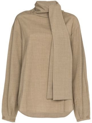 Low Classic Scarf Collar Wool Blouse - Farfetch