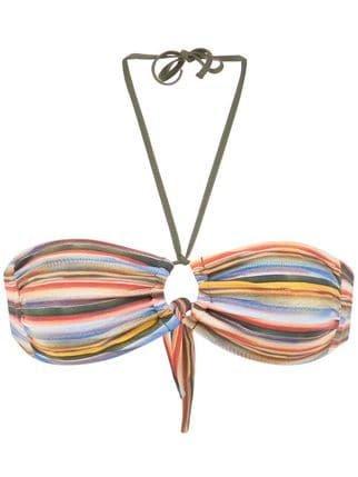 Track & Field Snake Bandeau Bikini Top - Farfetch