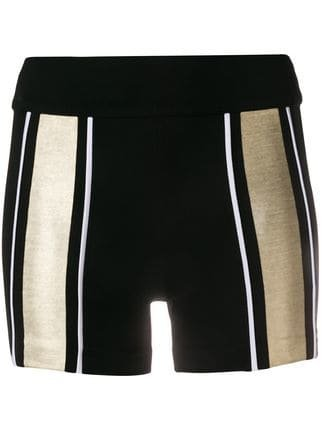 No Ka\' Oi Striped Panel Shorts - Farfetch