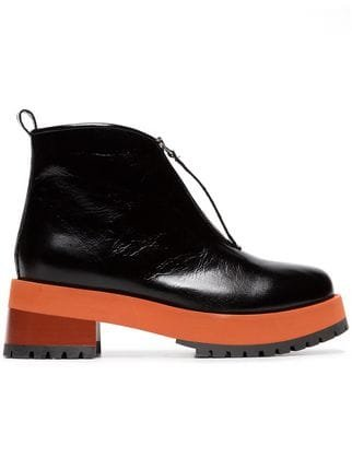Marni Black 65 Zip Leather Ankle Boots - Farfetch
