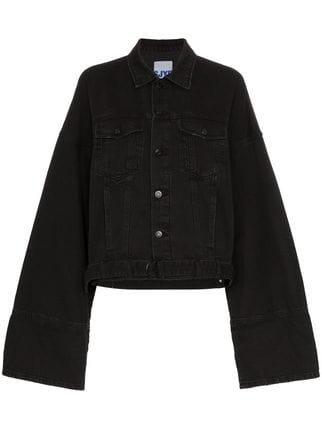 SJYP Oversized Cuff Denim Jacket - Farfetch