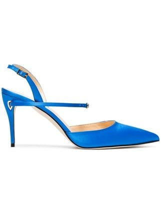 Jennifer Chamandi Blue Vittorio 85 Satin Sandals - Farfetch