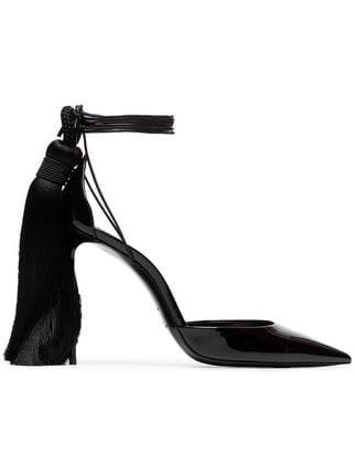 Saint Laurent Zoe 105 Tassel Heel Patent Leather d\'Orsay Pumps - Farfetch