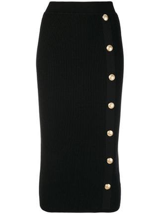 Balmain Embellished High-waist Skirt - Farfetch