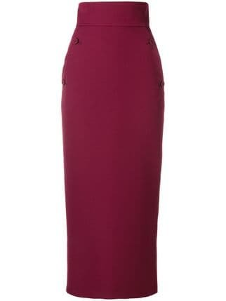 Sara Battaglia High Waisted Pencil Skirt - Farfetch