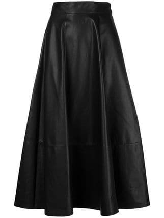 Loewe High Waisted Full Skirt - Farfetch