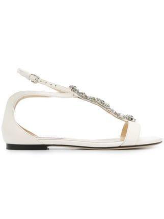 Jimmy Choo Averie Flat Sandals - Farfetch