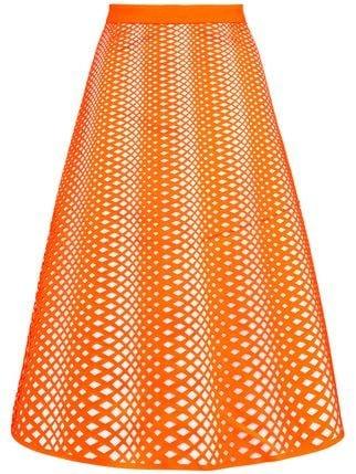 Paskal Eyelet Detail Midi Skirt - Farfetch