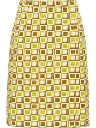 Prada Checkered Wraparound Skirt - Farfetch