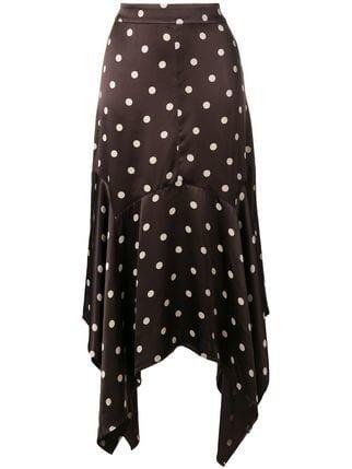 Ganni Dot Print Asymmetric Skirt - Farfetch