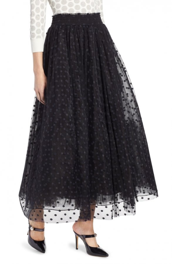 Polka Dot Tulle Maxi Skirt (Regular & Petite)