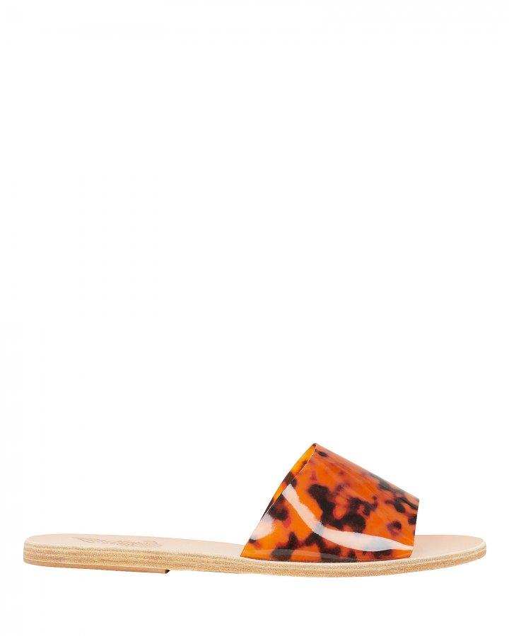 Taygete Tortoise PVC Strap Flat Sandals
