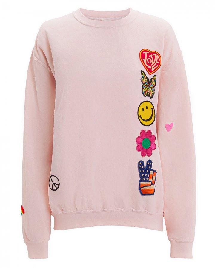 Faded Pink Patch Sweatshirt