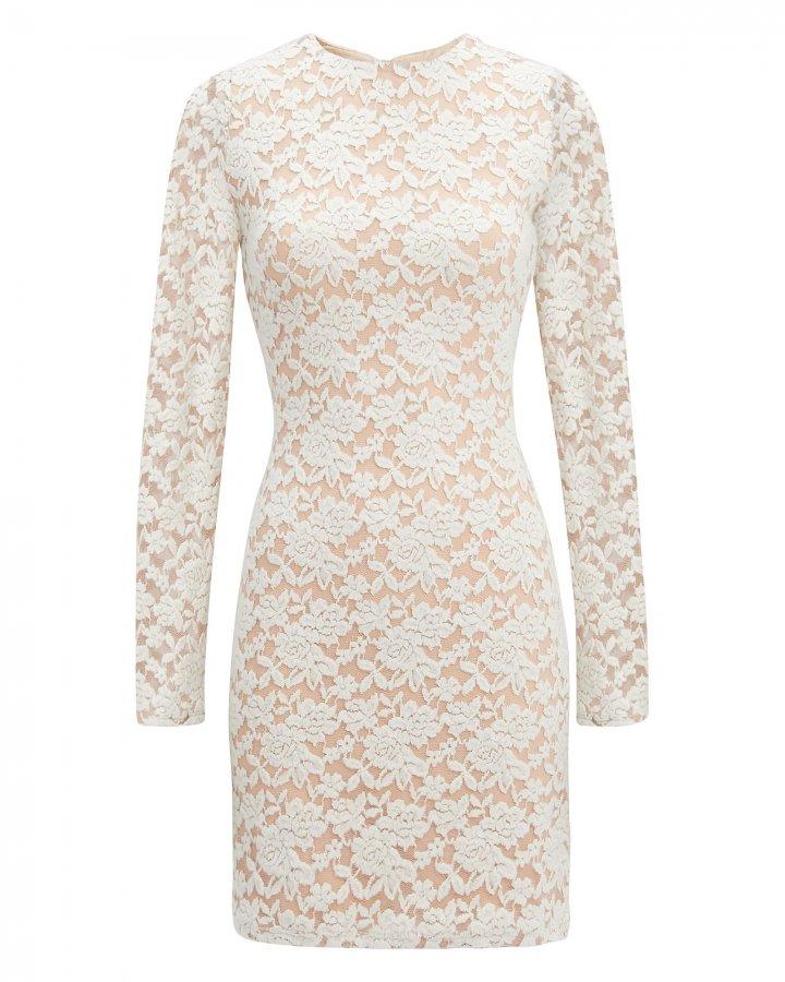 Ivory Sweater Lace Dress