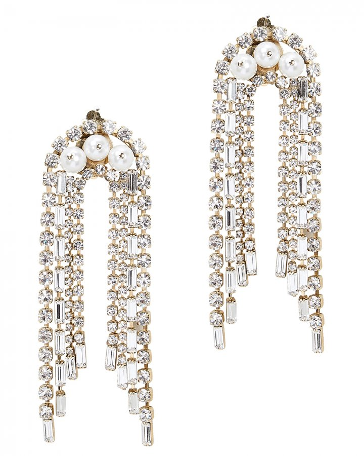 Gelo Pearl And Crystal Earrings