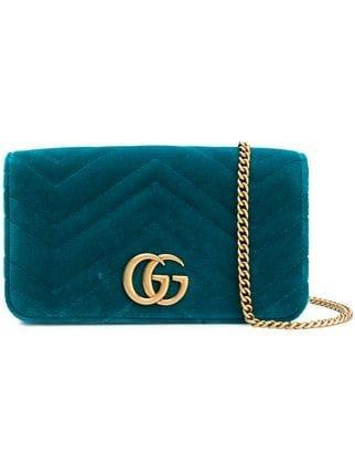 Gucci GG Marmont Chevron Clutch - Farfetch