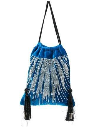 Attico Embellished Velvet Pouch Bag  - Farfetch