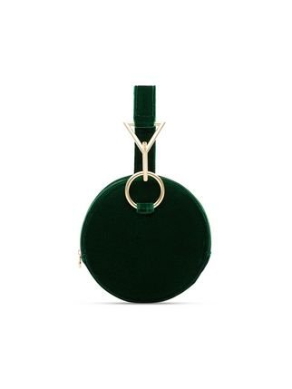 Tara Zadeh Green Azar Round Velvet Buckle Bag - Farfetch