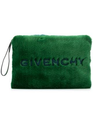 Givenchy Large Faux-fur Clutch - Farfetch