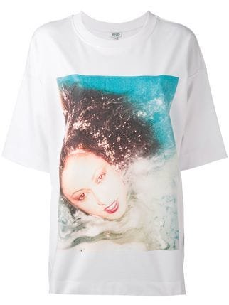 Kenzo Patti d\'Arbanville Oversized T-shirt - Farfetch