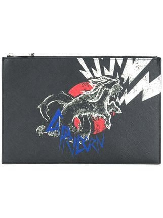 Givenchy Capricorn Printed Clutch Bag  - Farfetch
