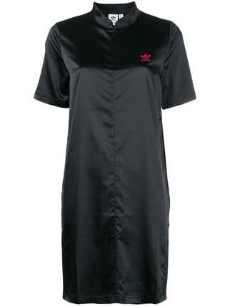 Adidas Front Zipped Logo Dress - Farfetch