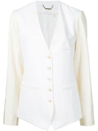Chloé Waistcoat Style Collarless Blazer - Farfetch