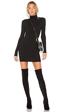Rib Turtleneck Mini Dress                                             Enza Costa
