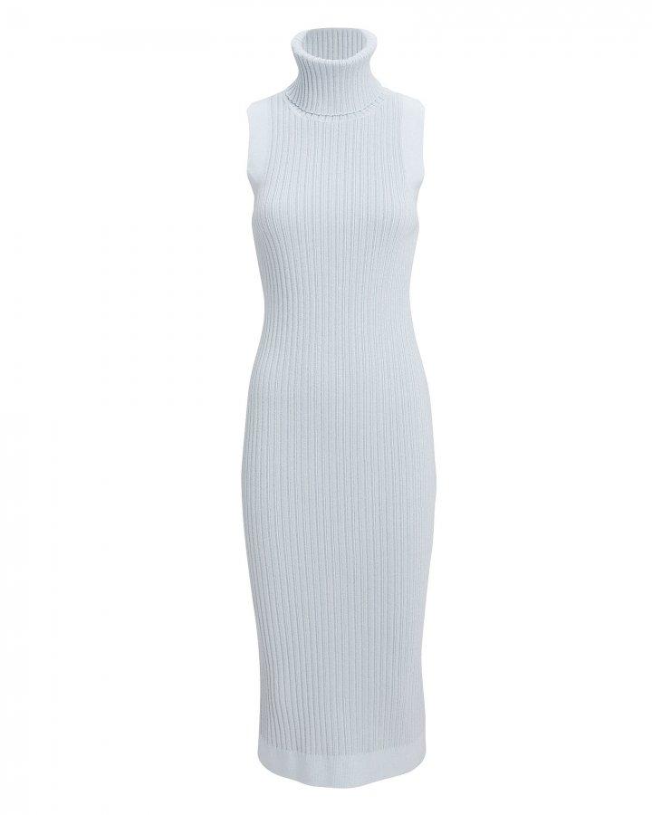 Giselle Ribbed Knit Turtleneck Midi Dress