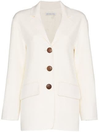 Rejina Pyo Collared Wool Blazer - Farfetch